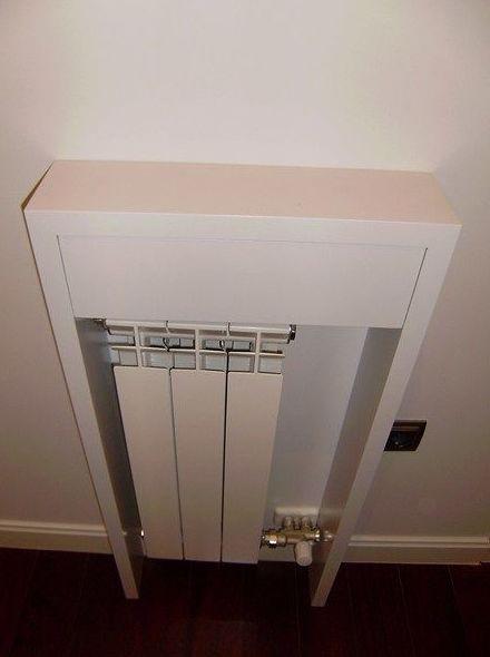 Cubreradiador blanco