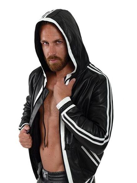 camisa Cuero con capucha White Stripes(398€)