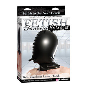 Capucha fetish fantasy extreme de látex privación sensorial