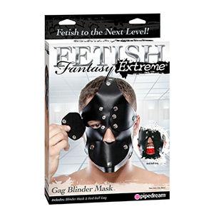 Máscara fetish fantasy extreme mordaza y aberturas