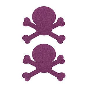 Pezoneras ouch forma calavera lila