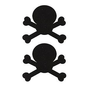 Pezoneras ouch forma calavera negra