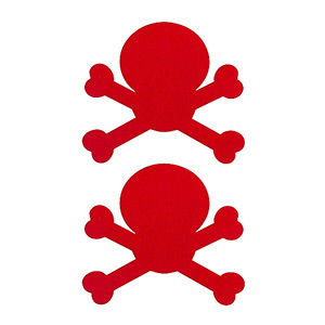 Pezoneras ouch forma calavera roja