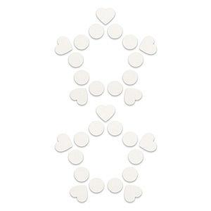 Pezoneras ouch forma cenefa punto y corazones blanca