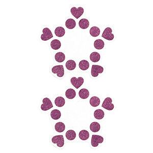 Pezoneras ouch forma cenefa punto y corazones lila