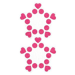 Pezoneras ouch forma cenefa punto y corazones rosa