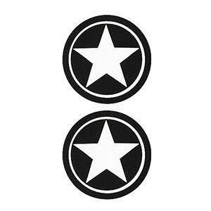 Pezoneras ouch forma circulo con estrella central negra