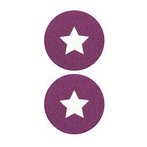 Pezoneras ouch forma circulo con estrella central pequeña lila