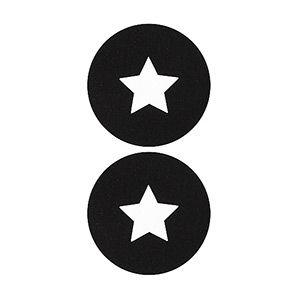 Pezoneras ouch forma circulo con estrella central pequeña negra