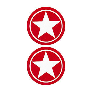 Pezoneras ouch forma circulo con estrella central rojo