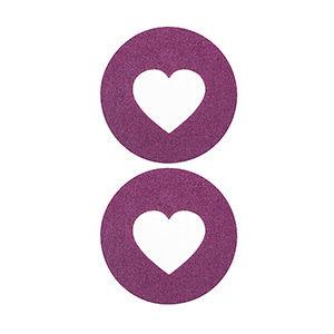 Pezoneras ouch forma corazón central grueso lila
