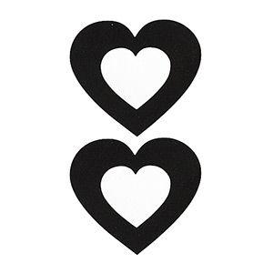 Pezoneras ouch forma corazón central negro