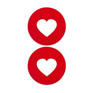Pezoneras ouch forma corazón central rojo grueso
