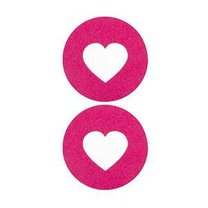 Pezoneras ouch forma corazón central rosa grueso