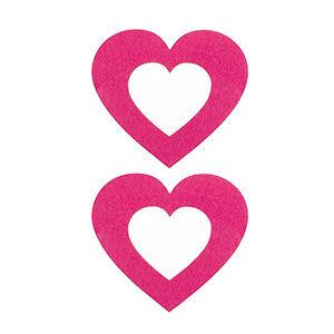 Pezoneras ouch forma corazón central rosa