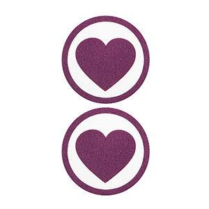 Pezoneras ouch forma corazón con circulo exterior lila