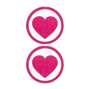 Pezoneras ouch forma corazón con circulo exterior rosa