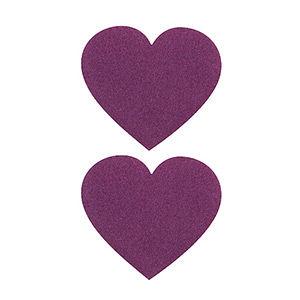 Pezoneras ouch forma corazón lila