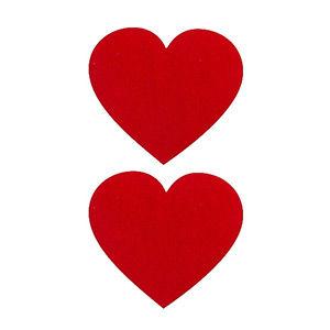 Pezoneras ouch forma corazón rojo
