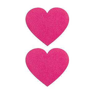Pezoneras ouch forma corazón rosa