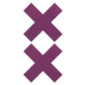 Pezoneras ouch forma cruz lila