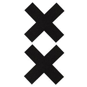 Pezoneras ouch forma cruz negra