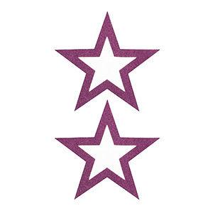 Pezoneras ouch forma estrella central fina lila