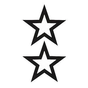 Pezoneras ouch forma estrella central fina negra