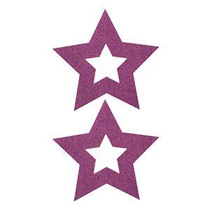 Pezoneras ouch forma estrella central lila