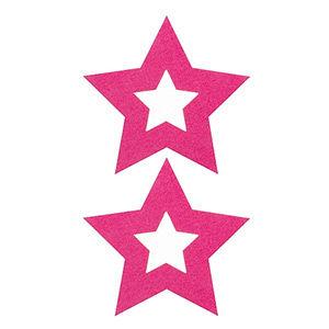 Pezoneras ouch forma estrella central rosa