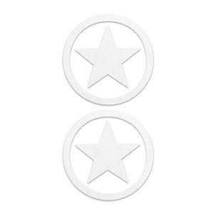 Pezoneras ouch forma estrella circulo externo blanca