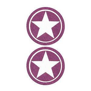 Pezoneras ouch forma estrella circulo externo grueso lila