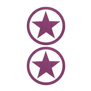 Pezoneras ouch forma estrella circulo externo lila