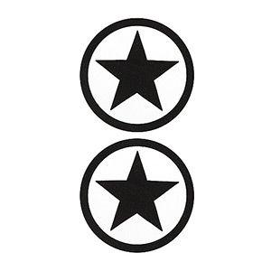 Pezoneras ouch forma estrella circulo externo negra
