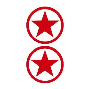 Pezoneras ouch forma estrella circulo externo roja