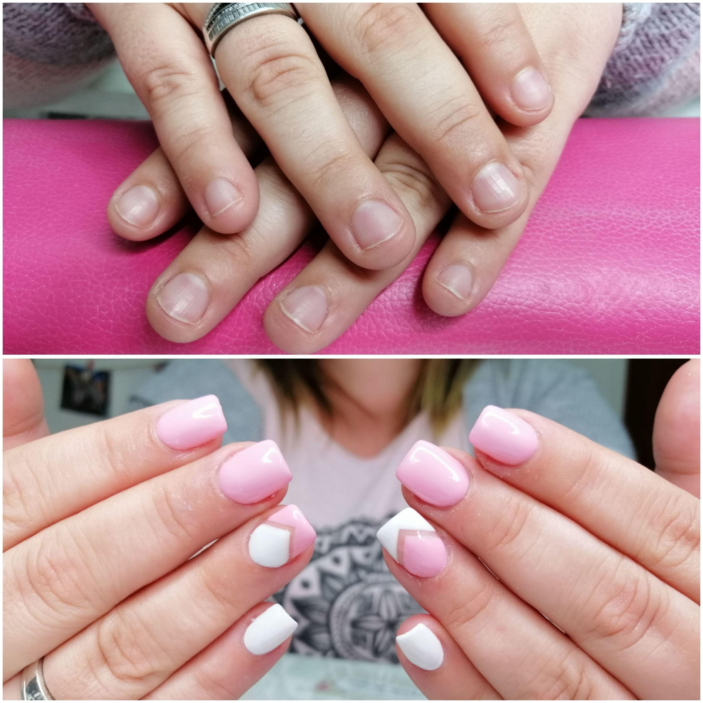 reconstrucción de uñas con acrilico