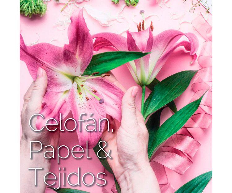 Celofán, papel y tejidos para floristerías