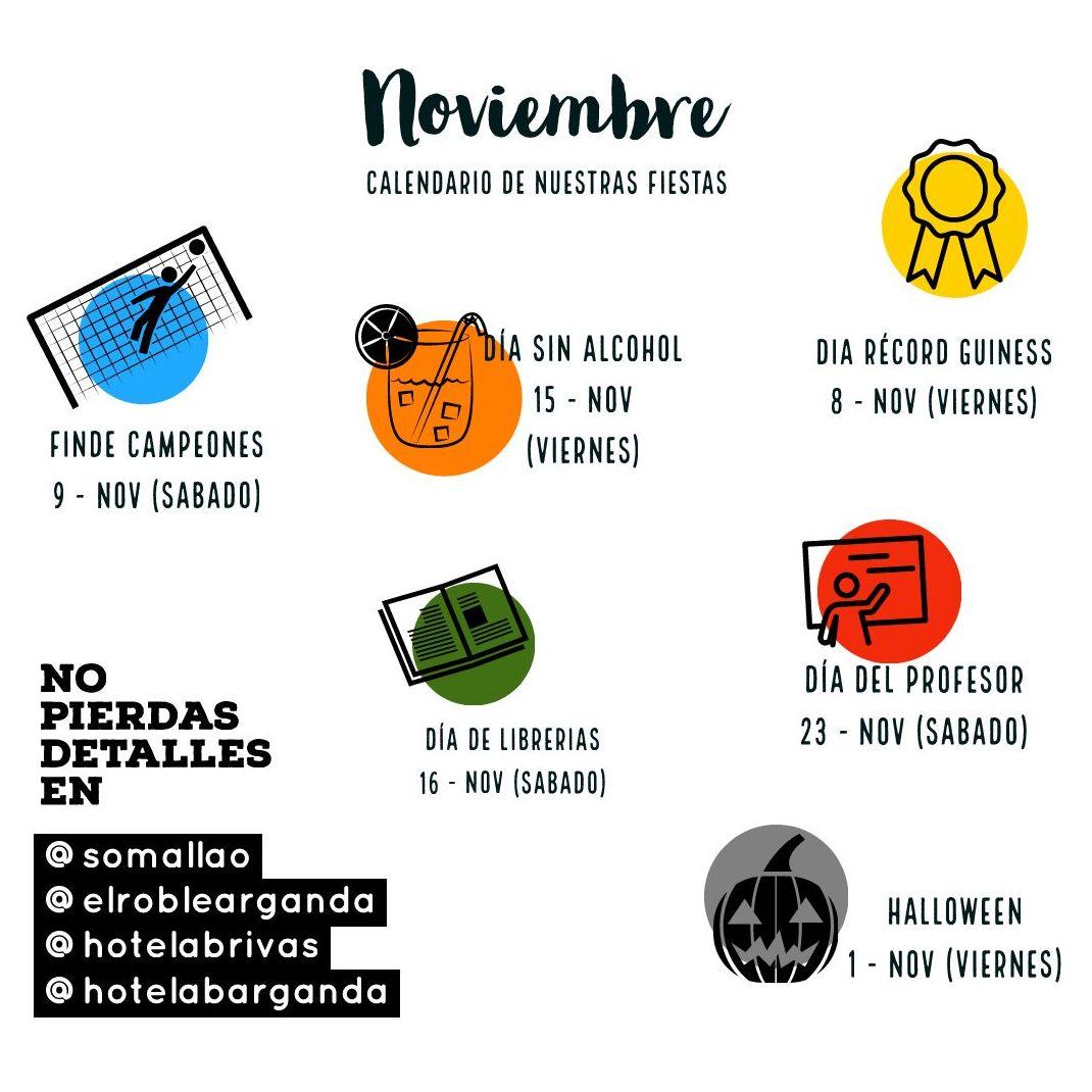 Actividades del mes de NOVIEMBRE: Nuestra Carta de Restaurante El Roble Hotel AB Arganda