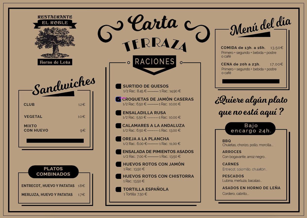 Apertura Terraza Restaurante El Roble Arganda del Rey