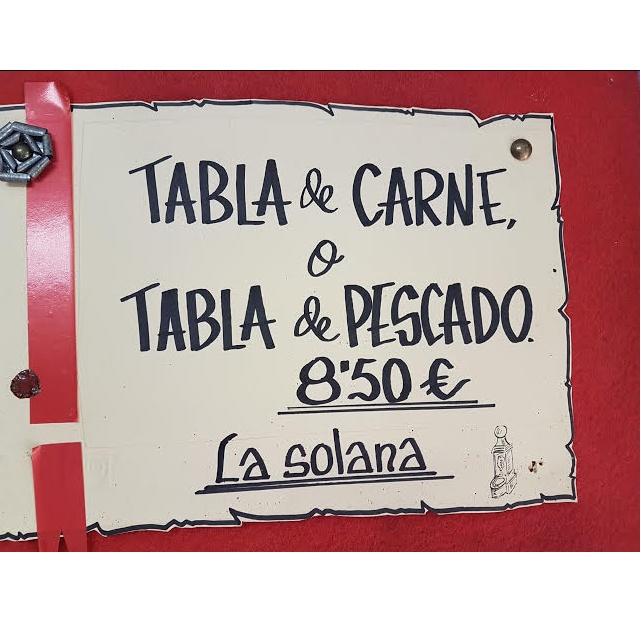 Tablas de carne o pescado: Carta y menú de Restaurante Asador La Solana