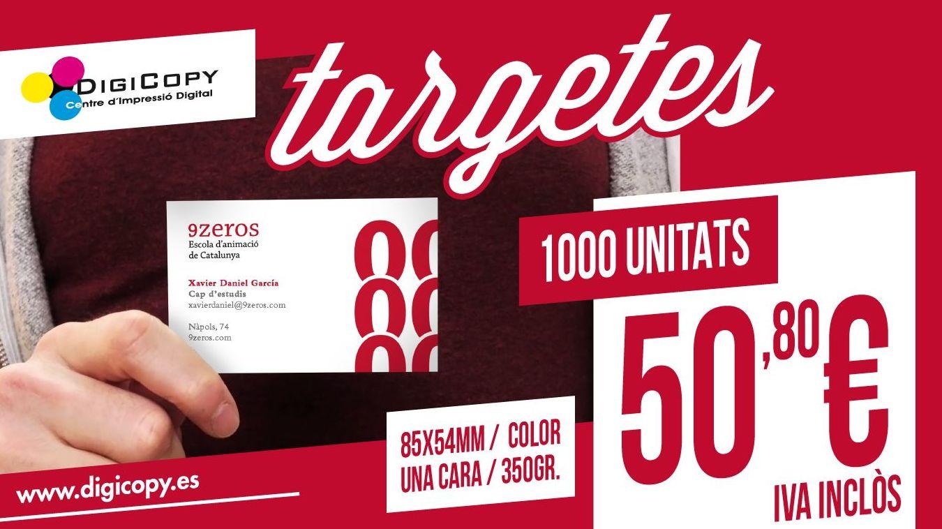 Tarjetas Oferta 1000/ud. color