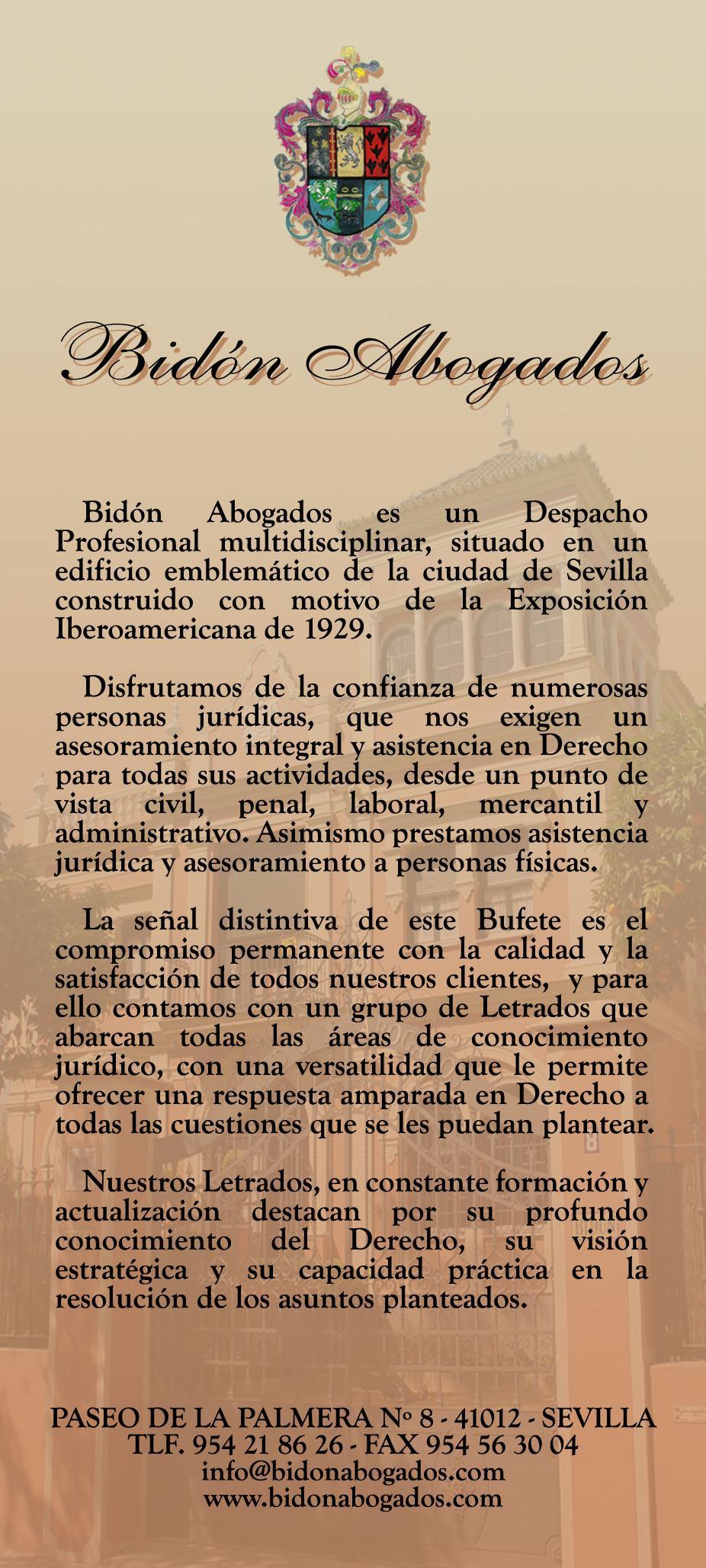 Foto 12 de Abogados en Sevilla | Bidón Abogados, S.L.