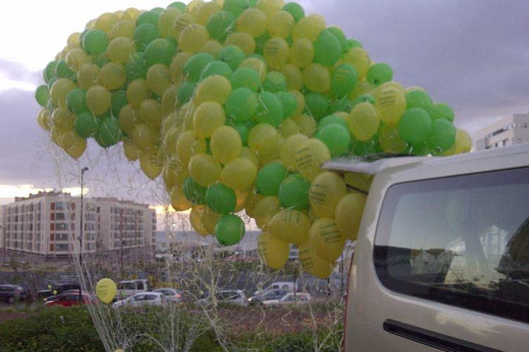 Publicidad con globos