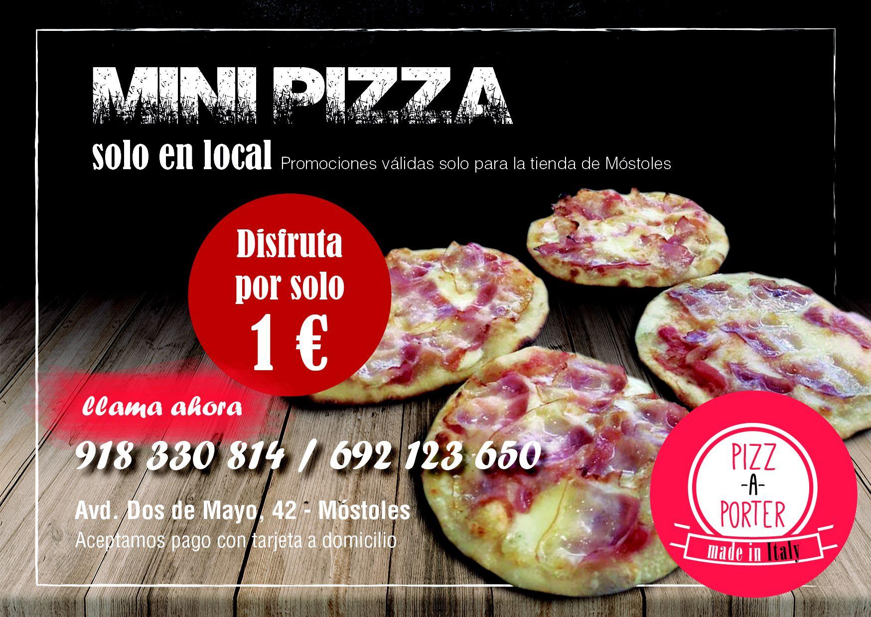 Promociones de pizzas y menús