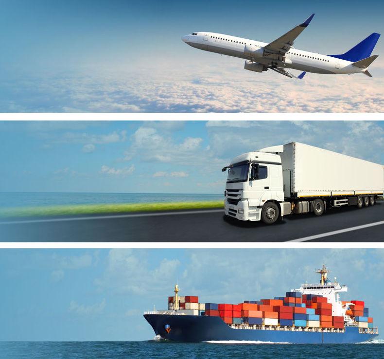 Servicio de transporte internacional aereo, terrestre y maritimo