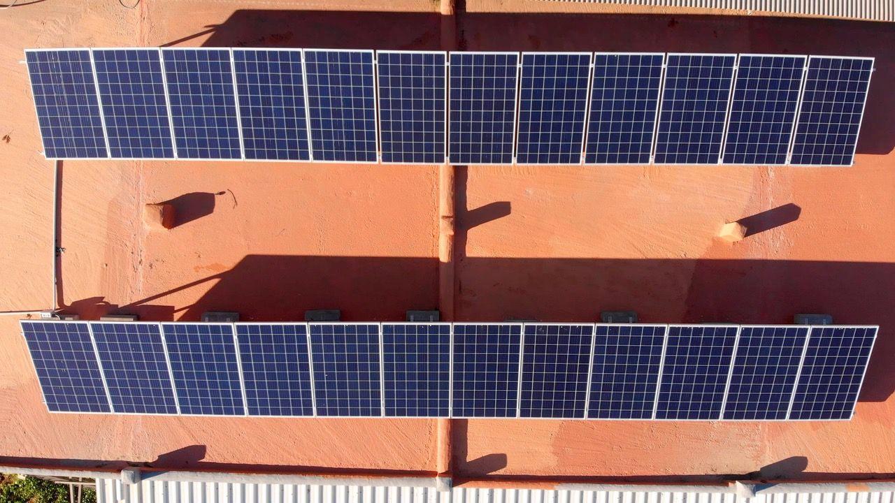 Instalación solar en la Granja Can Cristofol en Ibiza