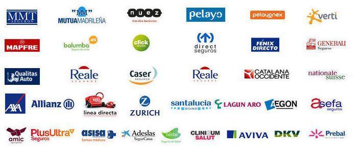 Compañías aseguradoras: Nuestros productos de Joca Racing Chapa y Pintura