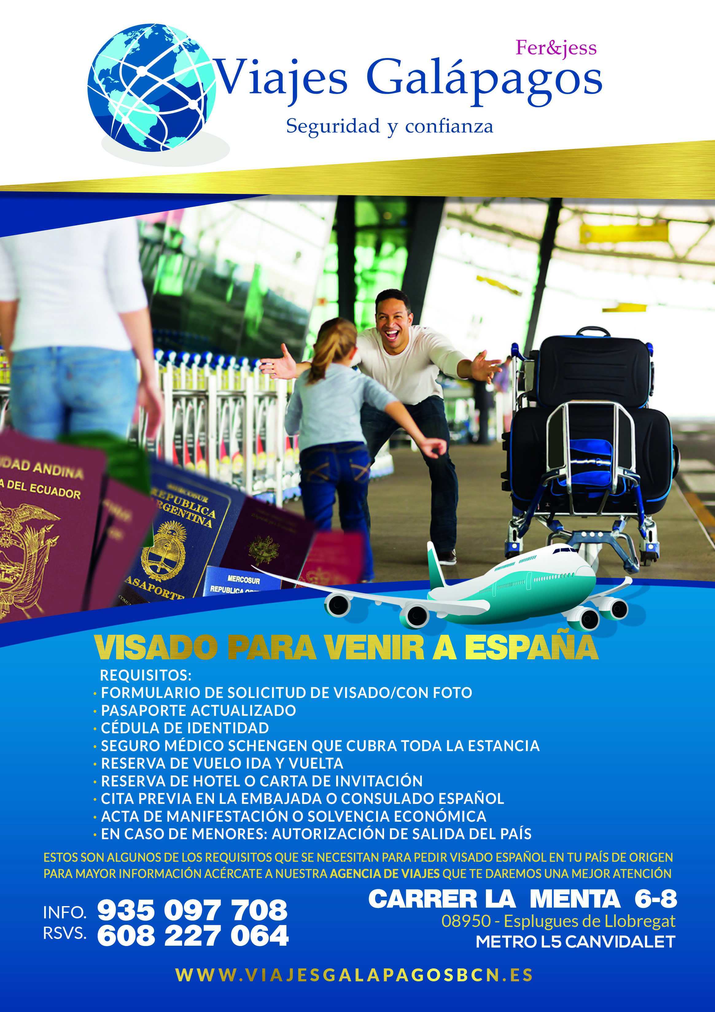 Foto 1 de Agencias de viajes en Esplugues de Llobrega | Viajes Galápagos