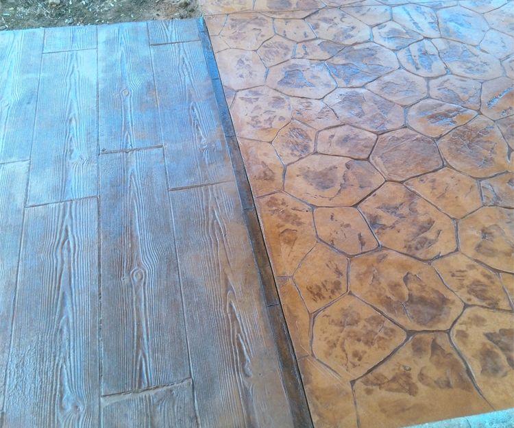 Imitación de madera y piedra irregular