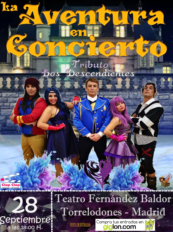 La Aventura en Concierto - Los Descendientes - Torrelodones - Madrid
